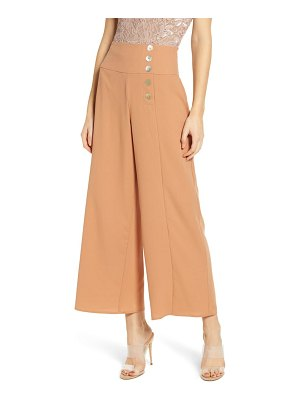 Love, Fire button detail wide leg pants