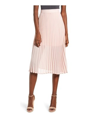 Love, Fire pleated georgette midi skirt
