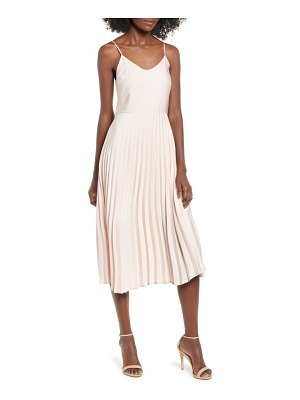 Love, Fire pleated midi dress