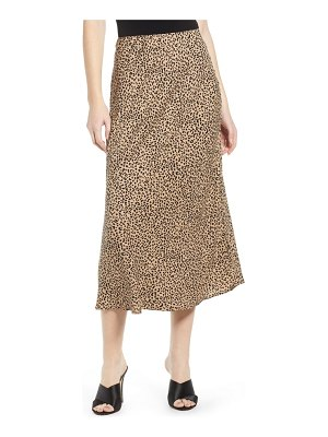 Love, Fire print midi skirt