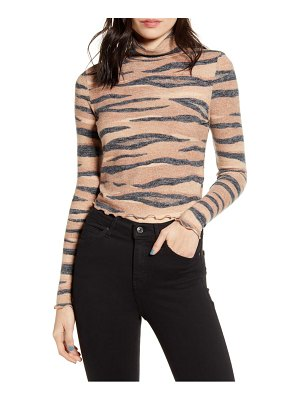 Love, Fire stripe mock neck top