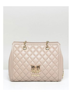 Love Moschino quilted logo bag