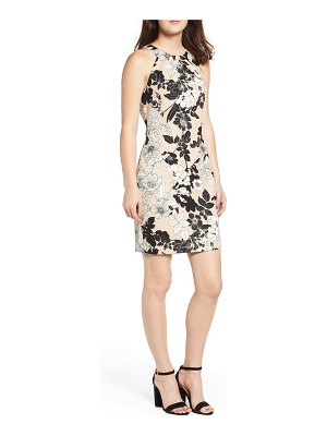 Love, Nickie Lew envelope neck sheath dress