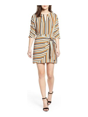 Love, Nickie Lew stripe faux wrap dress