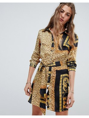 Love & Other Things animal print shirt dress