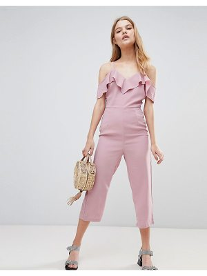 Love & Other Things Frill Detail Culotte Jumpsuit