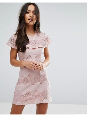 Love & Other Things Mini Dress With Lace Frill
