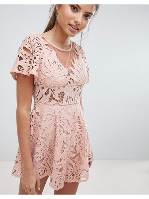 Love Triangle Lace Romper