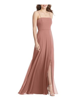 LOVELY elliott square neck chiffon gown