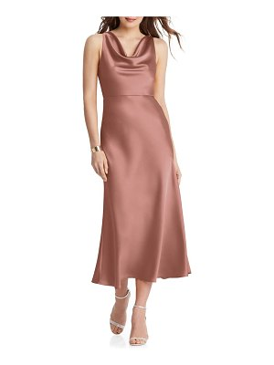 LOVELY esme charmeuse midi dress