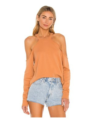 Lovers + Friends cropped crewneck with cold shoulder
