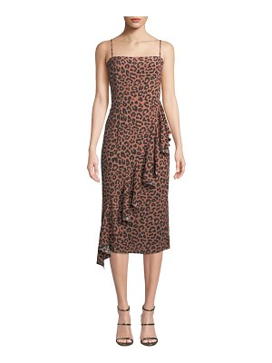Lovers + Friends Ellie Cheetah-Print Ruffle Midi Dress