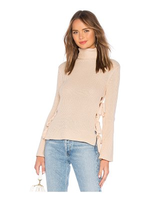 Lovers + Friends Hally Lace Up Sweater