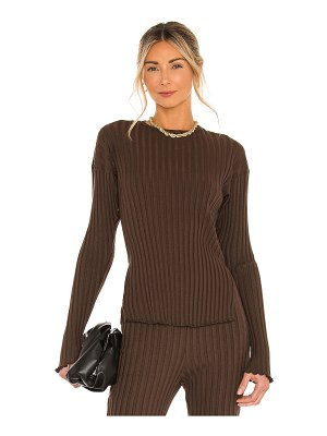 Lovers + Friends olivia ribbed top