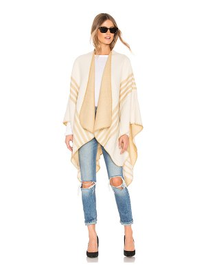 Lovers + Friends poncho with stripe detail