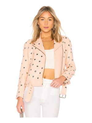 Lovers + Friends Studded Hearts Moto