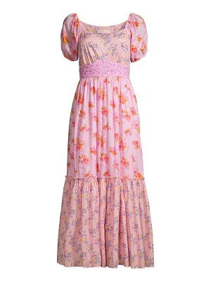 LoveShackFancy angie floral tiered maxi dress
