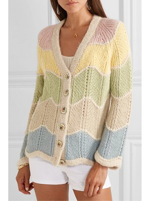 LoveShackFancy deena striped alpaca-blend cardigan