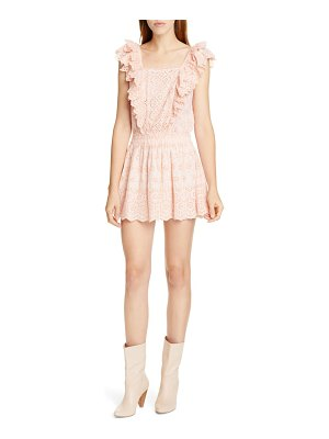 LoveShackFancy dora lace eyelet minidress