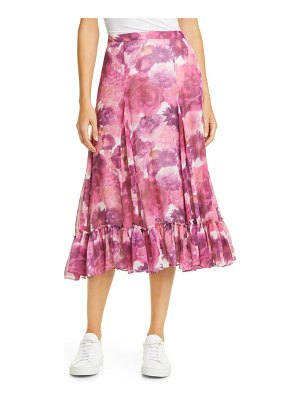 LoveShackFancy lil floral silk skirt