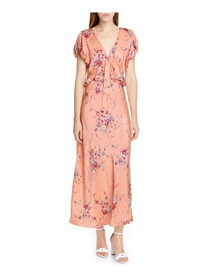 LoveShackFancy lillian floral silk maxi dress