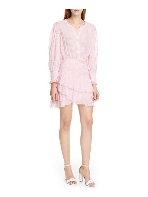 LoveShackFancy lorelei ruffle detail long sleeve cotton minidress