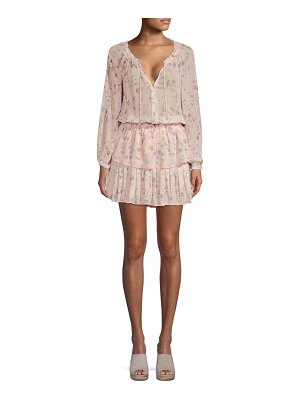 LoveShackFancy popover floral tunic dress