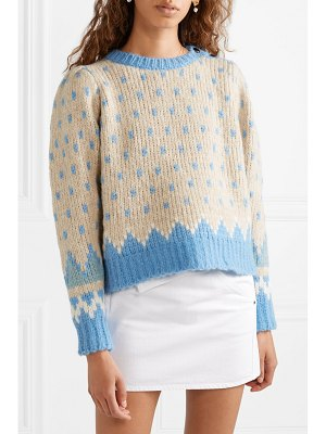 LoveShackFancy rosie fair isle alpaca-blend sweater