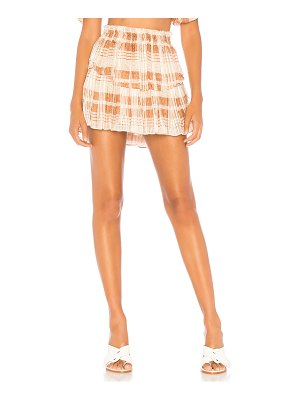LoveShackFancy Ruffle Mini Skirt