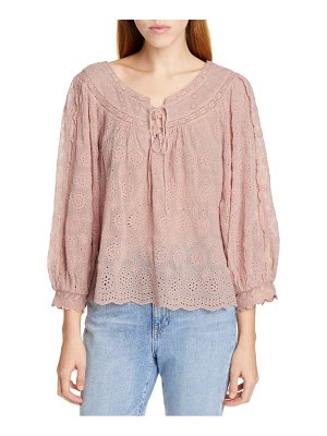 LoveShackFancy ruth tie neck blouse
