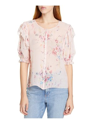 LoveShackFancy shaye floral silk top