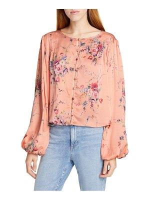 LoveShackFancy talia floral silk top