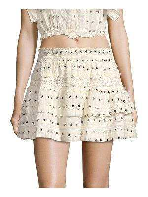 LoveShackFancy taylor tiered mini skirt