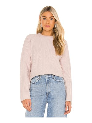 LPA cable rib mix pullover