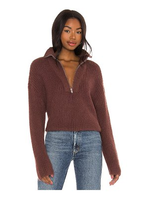 LPA lesley half zip sweater