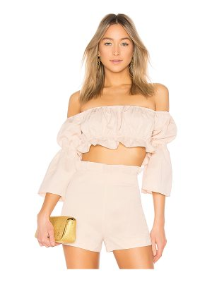 LPA Off Shoulder Shirred Top