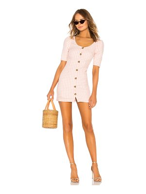 LPA Puff Sleeve Button Up Dress