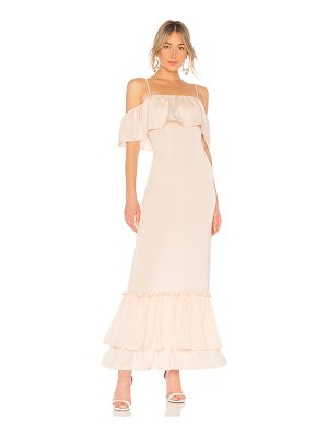 LPA Tiered Ruffle Gown