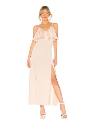 LPA V Neck Ruffle Gown