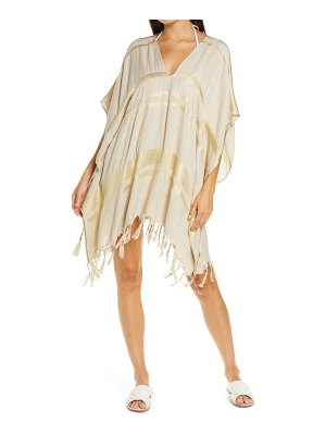 L*SPACE seaport metallic thread cover-up tunic