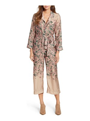Lucky Brand faded floral cropped jumpsuit