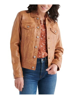 Lucky Brand leather trucker jacket