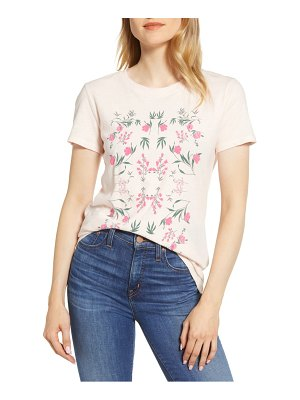 Lucky Brand mosaic flower graphic tee