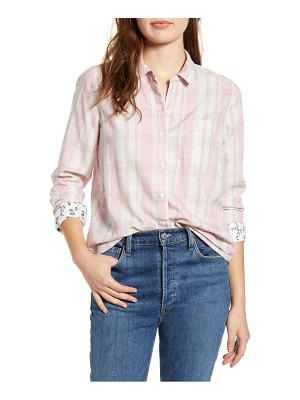 Lucky Brand plaid one-pocket shirt