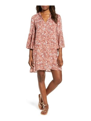 Lucky Brand printed bell sleeve shift dress