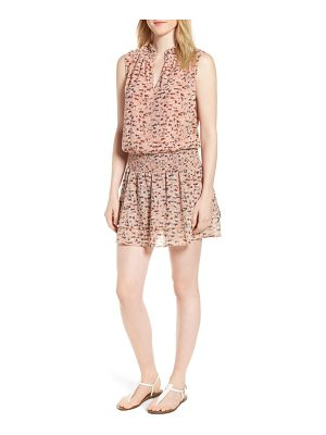 LUCKY BRAND Printed Drop Waist Mini Dress