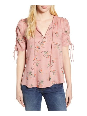 Lucky Brand puff sleeve printed top