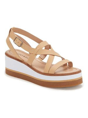 Lucky Brand ticey platform wedge sandal