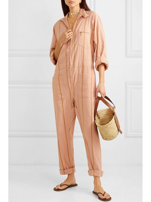LUCY FOLK striped cotton-blend jumpsuit