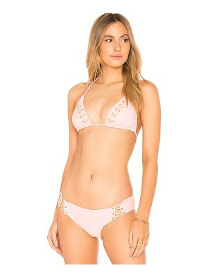 LULI FAMA Interlaced Bikini Top